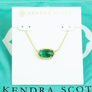 Kendra Scott Green Elisa Necklace !